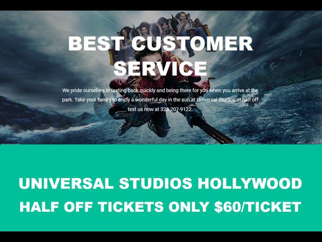 Universal Studios Tickets Half Off $60/Ticket - 1